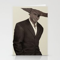dragon age inquisition Stationery Cards featuring The Iron Bull - Dragon Age Inquisition by maltairs