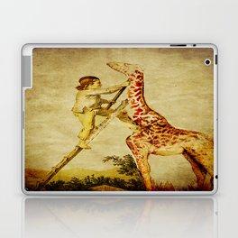 le petit garçon et la girafe  Laptop & iPad Skin
