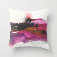 georgiana paraschiv Throw Pillows featuring Unravel by Georgiana Paraschiv