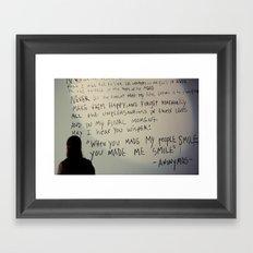 -anonymous- Framed Art Print