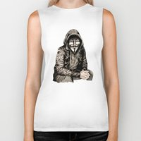 gangster Biker Tanks featuring Anonymous Gangster by 13 Styx