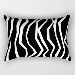 Wavy zig zag lines edgy black and white Rectangular Pillow
