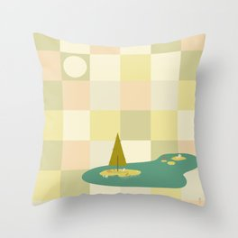 Zen Tile Throw Pillow