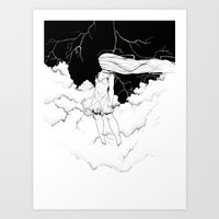 storm Art Prints featuring Storm by  Louie