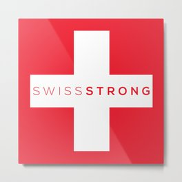 Swiss Strong Metal Print