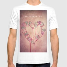 Love is in the air.. Mens Fitted Tee White MEDIUM