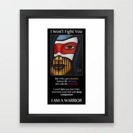 Compassion Warrior Framed Art Print