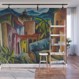 """African American Classical Masterpiece """"San Miguel Allende, 1936"""" by Hale Woodruff Wall Mural"""