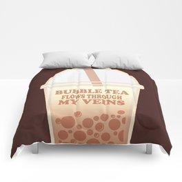 Bubble Tea Veins Comforters