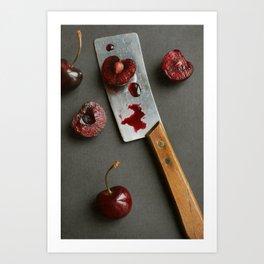 Cherries and Mini Cleaver Art Print