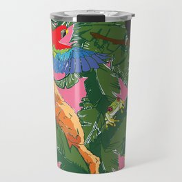 Rainforest Animals Botanical Repeat Travel Mug