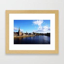 On The Bridge - Inverness - Scotland Framed Art Print