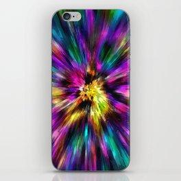 Vibrant Starburst Tie Dye iPhone Skin