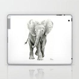 Baby Elephant Watercolor Laptop & iPad Skin