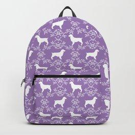 Boykin Spaniel silhouette florals spaniels dog breed purple Backpack