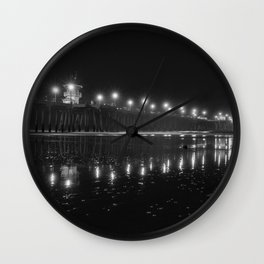 Black and White Reflections Wall Clock