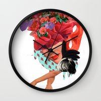 solid Wall Clocks featuring Solid things 8  by Natural Values