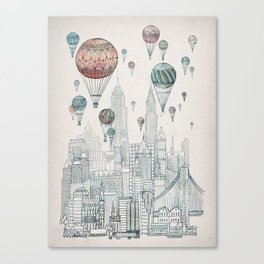 Voyages Over New York Canvas Print