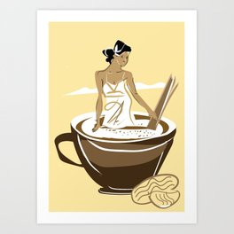 vanilla cafe2 Art Print