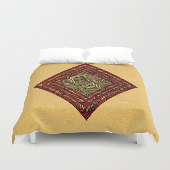 - lines of diamonds - Duvet Cover