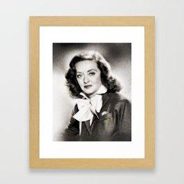 Bette Davis, Vintage Actress Framed Art Print