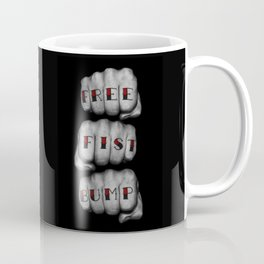 FREE FIST BUMP / Photograph of grungy fists with tattooed knuckles Coffee Mug