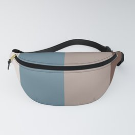 4 Bold Wide Lines Behr Blueprint Blue, Brown Velvet, Coffee with Cream, and Cameo Stone Fanny Pack
