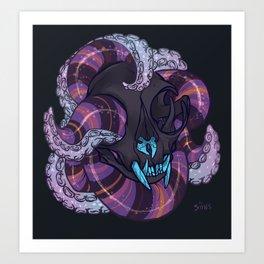Tentacles and skulls Art Print