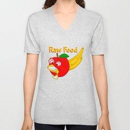 Raw Foods Food Fight Unisex V-Neck