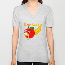 Raw Foods Food Fight Unisex V-Neck