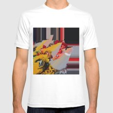 But I'm a Real Dragon! White Mens Fitted Tee MEDIUM