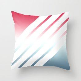 5 White Stripes Throw Pillow
