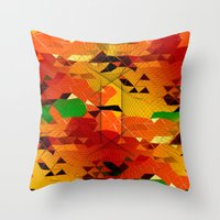 blackhawks Throw Pillows featuring Here come the... by KRArtwork