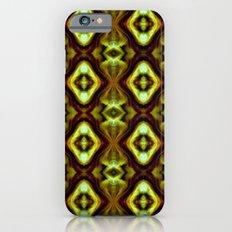 Bright Green Brown Diamond Pattern iPhone 6s Slim Case