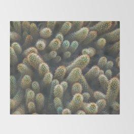 Botanical Gardens Cactus #596 Throw Blanket