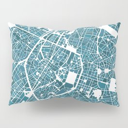 Brussels City Map I Pillow Sham