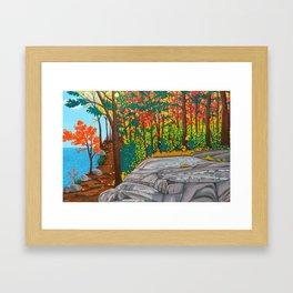 Lakeside Trail Framed Art Print