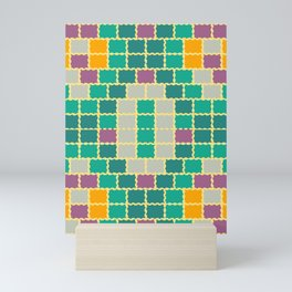 Summer bricks Mini Art Print