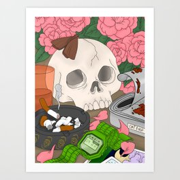 Burnt And Worn Out Art Print