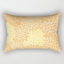 Yellow Orange Dahlias Rectangular Pillow