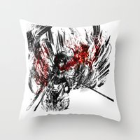 snk Throw Pillows featuring Ackerman by ururuty