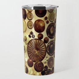 Vintage Buttons Travel Mug