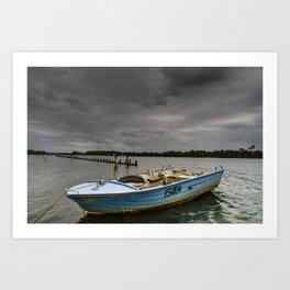 Little Boat Under the Big Storm Art Print