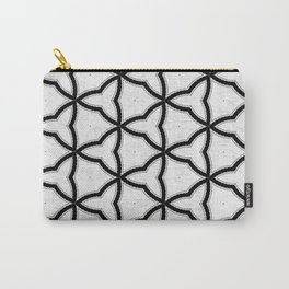 Modern Decor Black and White Geo Pattern Carry-All Pouch