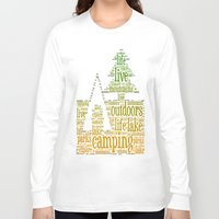 camping Long Sleeve T-shirts featuring Camping by windkist