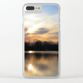 Sunset at Sheldon Marsh Clear iPhone Case