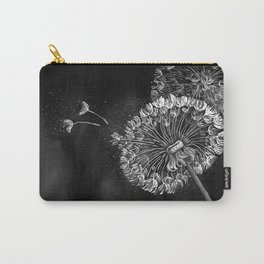 Dandelions, black & white Carry-All Pouch