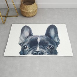 French Bull dog Dog illustration original painting print Rug