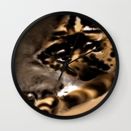 Fault in the mist Wall Clock