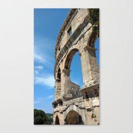 pula croatia ancient arena amphitheatre high Canvas Print